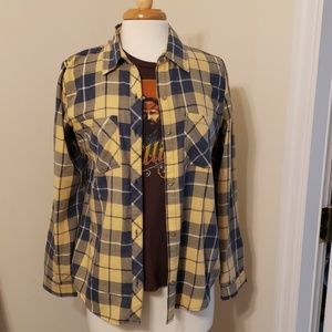 C&C California Blue and Yellow Button Down, Med